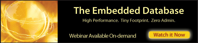 Webinar Available On-demand: The Embedded Database